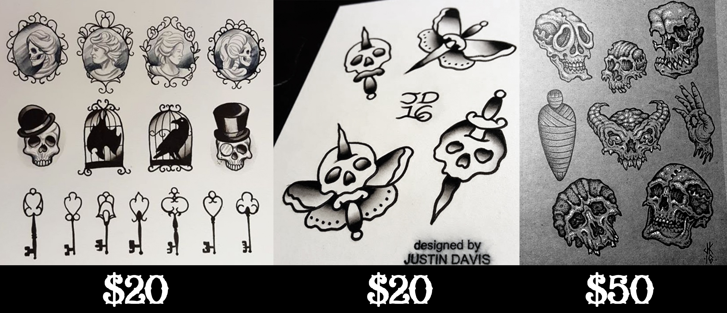 Friday the 13th special moth and dagger tattoo studio for Friday the 13th tattoo specials near me