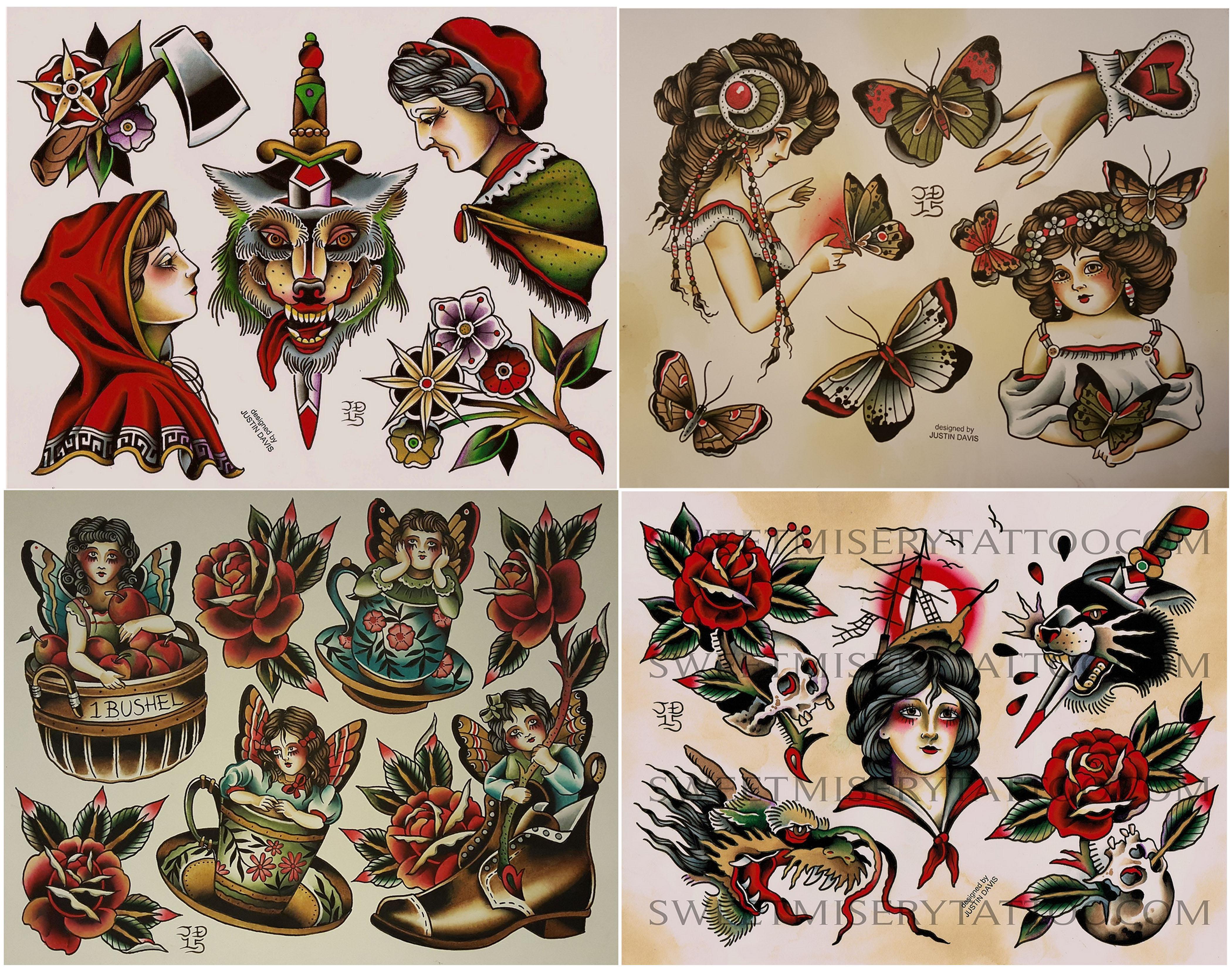 Traditional dagger tattoo flash for Traditional tattoo flash